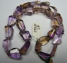 Unique 394 Cts Natural Ametrine (Amethyst & Citrine Bio) Faceted Tumble/Nugget Beads (25 Pcs) Full 18 inch Strand > Necklace Earrings