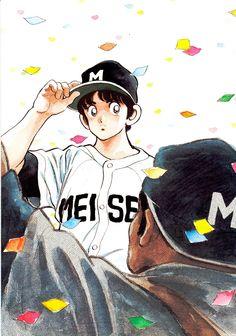 あだち充mitsuru_adachi Top Manga, Manga Love, I Love Anime, Old Anime, Manga Anime, Adachi Mitsuru, Baseball Anime, Anime Drawing Styles, Manga Artist