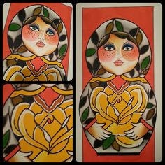 #russiandoll #nestingdoll #watercolor #roses #painting #art please do not copy