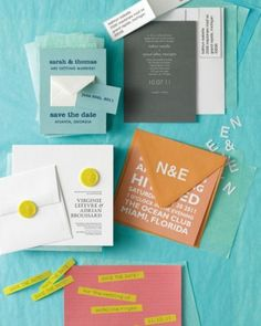 """See the """"Stick to It"""" in our Five Ways to Customize Your Wedding Invitations gallery"""