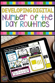 Tips and templates for developing routines for digital number of the day and building number sense during distance learning in first grade, second grade, and third grade. If you are teaching math remotely and using Google Apps, read this to help plan your daily digital math warm up! Teaching Second Grade, Second Grade Teacher, 2nd Grade Classroom, Third Grade Math, Special Education Classroom, Math Classroom, Google Classroom, Classroom Ideas, Teaching Numbers