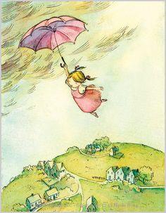 Flying Girl.  illustrator Nicole Wong