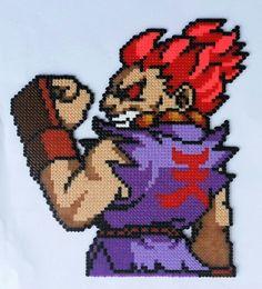 Akuma Street Fighter - Hama mini beads by Jose Balboa