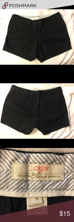 J. Crew Chino shorts (black & navy) 2 pairs of cotton J. Crew Chino shorts in black and navy. Both only worn once! Super comfortable and great for summer! J. Crew Shorts