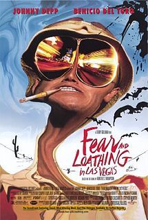 Fear and Loathing in Las Vegas is a 1998 American black comedy film directed by Terry Gilliam, starring Johnny Depp as Raoul Duke and Benicio del Toro as Dr. Gonzo. It was adapted from Hunter S. Thompson's 1971 novel of the same name.  Fear and Loathing in Las Vegas was a box office failure. It has since become a cult film due in large part to its release on DVD <3 <3 <3 <3 <3/5