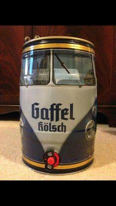 VW bus beer keg