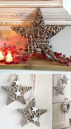 Estrellas y corazones de mimbre para decorar tu boda                                                                                                                                                     Más