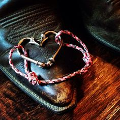 Heart Fish Hook Bracelet by TailsNTines on Etsy