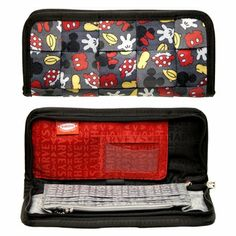 "It's a wallet! It's a clutch! It's the Love You to Pieces Clutch Wallet! The Clutch Wallet features an adorable Mickey  Minnie print, mixed Harveys for Disney Couture lining, and enough room to zip up all of your essential goodies (cell phone, lipstick, checkbook, etc.). Keep it in your larger Seatbeltbag to let its ""wallet"" side shine, or use it on its own as a casual clutch! Oooooh! Matches the Harvey I got for my birthday!!!"