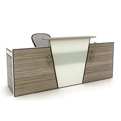 High end melamine reception table modern office counter table office furniture design