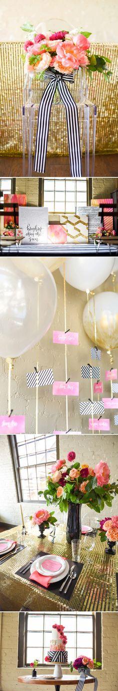 Chic Modern Pink and Orange Wedding Ideas