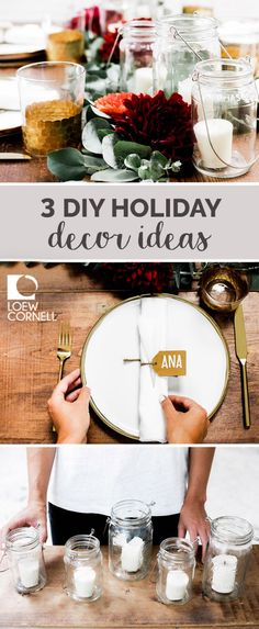 So you don't believe how easy it can be to add festive cheer to your dining room or living area? Check out these 3 DIY Holiday Decor Ideas for ways to personalize your homemade decorations. Now all that's left is to add a delicious spread of recipes and treats to finish your festive tablescape. Entertaining friends and family at your annual holiday get-together has never been so stylish!