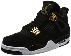 buy popular cc9fd 6db4a Nike Men s Air Jordan 4 Retro Black Metallic Gold White (SIZE  The Air  Jordan Retro 4 Basketball Shoe is an iconic shoe with a proven track record.