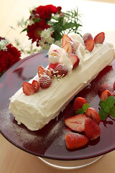 Buche de Noel Cheesecake, Desserts, Noel, Tailgate Desserts, Deserts, Cheesecakes, Postres, Dessert, Cherry Cheesecake Shooters