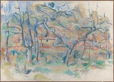 Trees and Houses, Provence, 1884-86. Paul Cezanne