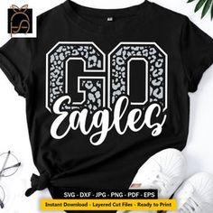 Go Huskies svg Football SVGCameoCricutmama svgFootball | Etsy Eagles Team, Go Eagles, Football Iron On, Pep Club, Lions Team, Printing Websites, Milwaukee Bucks, School Sports, Cute Tshirts