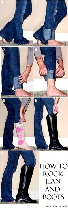 How to rock jean and boots