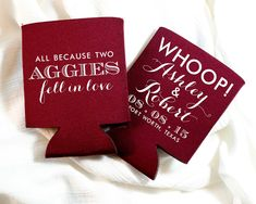 New to SipHipHooray on Etsy: Aggies Wedding Favors All Because Two Aggies Fell in Love A&M Wedding Favors Aggie Wedding Wedding Favors Rehearsal Favor Aggies 1232 (75.00 USD)