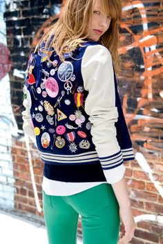 The Hit List: Your Ultimate Fall Fashion Guide (American Eagle Outfitters' DIY varsity jacket)