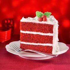 The Best Ever Red Velvet Cake Recipe.... thanks to one secret ingredient! So yum!