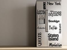 New York - Vinyl Decal - Refrigerator Decal. $40.00, via Etsy.