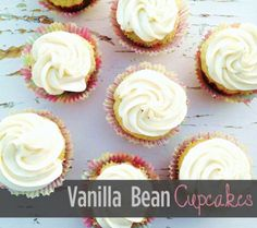 Vanilla Bean Cupcake Recipe - Wanna Bite My little baker  will want to make these.