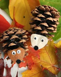Easy Fall Crafts Using Pine Cones Homemade Pine Cone Bird Feeders Homemade Nature And Pine