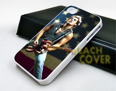 Bruce Springsteen American With Flag  iPhone Case by BEACHCOVERR, $14.30
