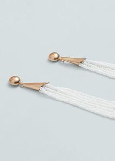 Beaded pendant earrings - Jewellery for Women | MANGO USA