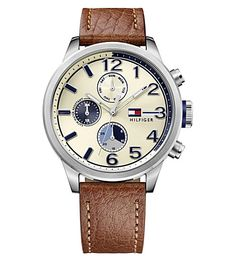 TOMMY HILFIGER 1791239 Stainless Steel And Leather Watch. #tommyhilfiger #womens fashion watches