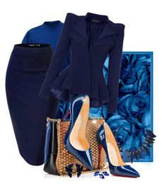 Light It Up Blue. Day 13 by newsjoan on Polyvore featuring polyvore, fashion, style, Christian Louboutin, Melissa Joy Manning, clothing, polyvoreeditorial and autismawareness
