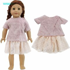 Low Price $6.55, Buy Fashion Wool Coat Winter Party Wear Jacket Dot Short Dress Chiffon Mini Skirt Clothes For American Girl Doll Toy Accessories