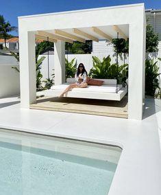Backyard Cabana, Pool Gazebo, Pool Cabana, Small Backyard Pools, Pergola, Swimming Pools Backyard, Pool Landscaping, Modern Pool House, Modern Pools