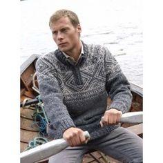 Donegal Tweed Man's Sweater - Grijs