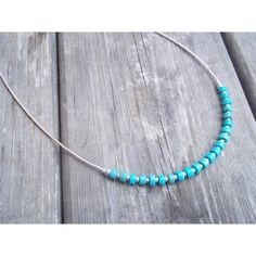Handmade Natural Turquoise and Sterling Silver necklace (1.680 RUB) ❤ liked on Polyvore featuring jewelry, necklaces, etsy, green turquoise necklace, blue turquoise necklace, turquoise jewellery, turquoise necklaces and blue turquoise jewelry
