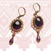 Royal Amethyst Earrings Tutorial