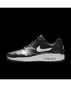 buy popular f1299 75d8b Nike Air Max 1 Mens Hyp Id Bright Black White Shoes Outlet