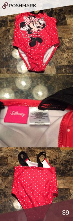 Size 3t Minnie bathing suit! This is a gently used size 3t Minnie Mouse bathing suit only worn a few times in excellent condition! Disney Swim One Piece