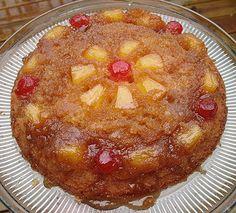 Ananas gâteau à l'envers dans une poêle de fer Cast - Cookin Amanda '