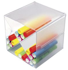 Cross Divider #Stackable #Cube Organizer is great for organizing a variety of office supplies. Can personalize to work for you by removing dividers