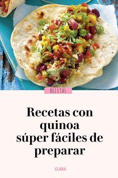 Desde ensaladas a hamburguesas, inspírate con estas recetas con quinoa para variar tu menú Quinoa Salad Recipes, Clean Recipes, Raw Food Recipes, Gourmet Recipes, Vegetarian Recipes, Cooking Recipes, Healthy Recipes, Salade Healthy, Comida Diy