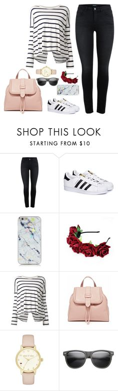 """Untitled #1194"" by cecilialukas ❤ liked on Polyvore featuring adidas, Velvet, Kate Spade and ZeroUV"
