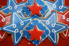 https://flic.kr/p/cCVKnw | 4th of July Themed Cookies | These were the patriotic themed cookies I made this year for the 4th.  Simple, but fun!