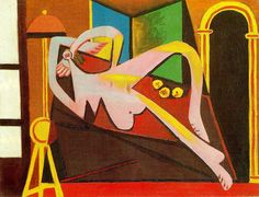 Reclining Woman, 1929, Pablo Picasso Size: 46.3x61 cm Medium: oil on canvas