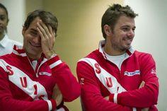 Federer & Wawrinka - Davis Cup SFs (2014): Switzerland vs. Kazakhstan
