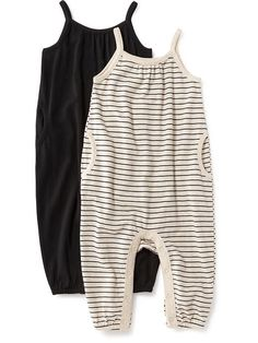 Singlet Romper Black and Stripes