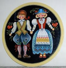 what a brilliant, simple traditional syle. Reminds me of my first folk art book, by Jo Sonja