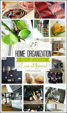 Best home organization tips from craftionary.net #organization