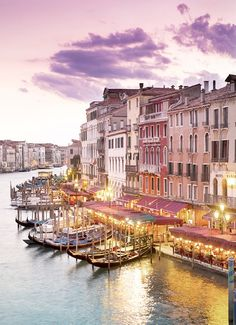 A gorgeous evening in Venice.