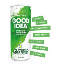 Good Idea Flavored Sparkling Water Lemon Lime Amino Acid and Mineral Enhanced Natural Energy and Balance Cut Your Blood Sugar Spikes No Caffeine Zero Sugar 12 oz Can 12 Count -- Check out the image by visiting the link. (This is an affiliate link) Lemon Drink, Natural Energy, Sugar Cravings, Diabetic Friendly, Lemon Lime, Blood Sugar, Natural Flavors, Amino Acids, Spikes
